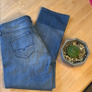 Buffalo David Button Straight Leg Curvy Jeans